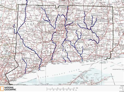 ct road map connecticut rivers and coastal paddling map bargytown