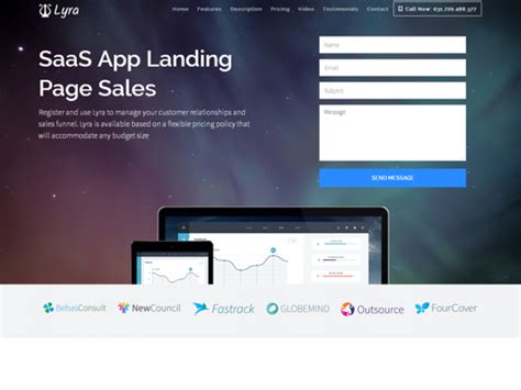 template joomla hoxa contemporary saas website template image collection