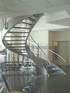 Glass Stair by Spiral Glass Stairs Crystal Stairs