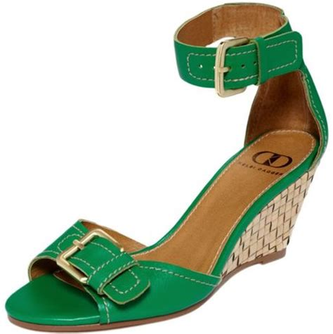 green wedge sandals kelsi dagger gemini wedge sandals in green green