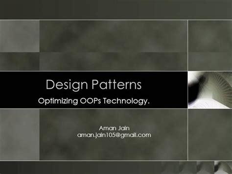 design pattern gang of four amazon design patterns authorstream