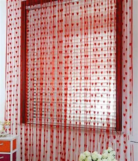 heart curtains homesazz single door heart string curtain buy homesazz