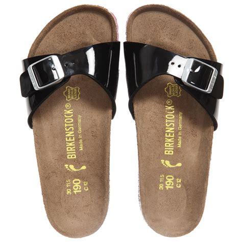 girls black sandals birkenstock girls black madrid sandals childrensalon