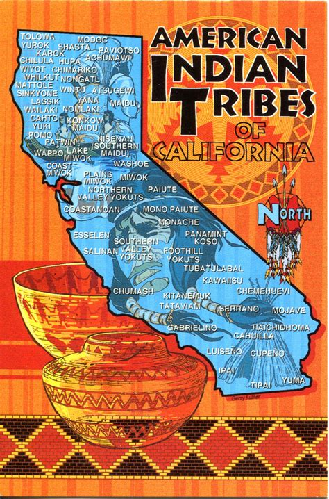 california american tribes map usa california remembering letters and postcards