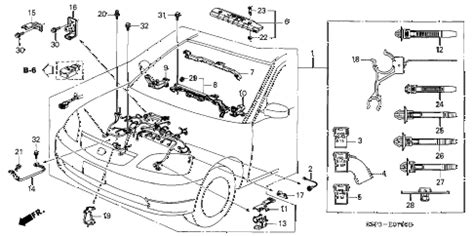 2003 honda civic parts diagram 2003 honda civic wiring harness 31 wiring diagram images