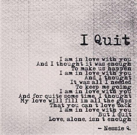 Love Isnt Enough Quotes Quotesgram