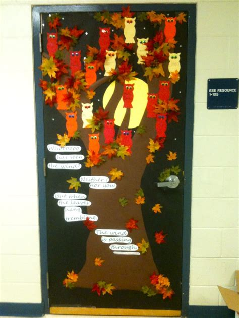 fall door decorations classroom fall classroom door ideas for teaching