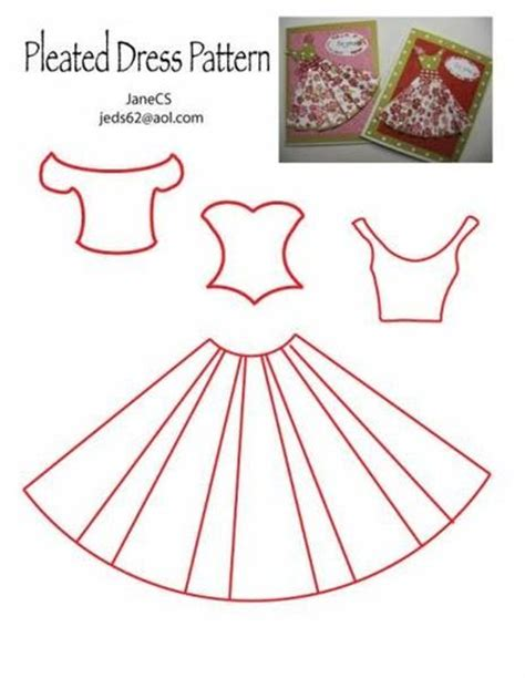 How To Make Papercraft Dolls - dress pattern could use for quilled dolls papercraft