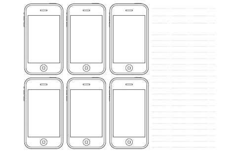 20 Free Printable Sketching And Wireframing Templates Iphone Web Design Template