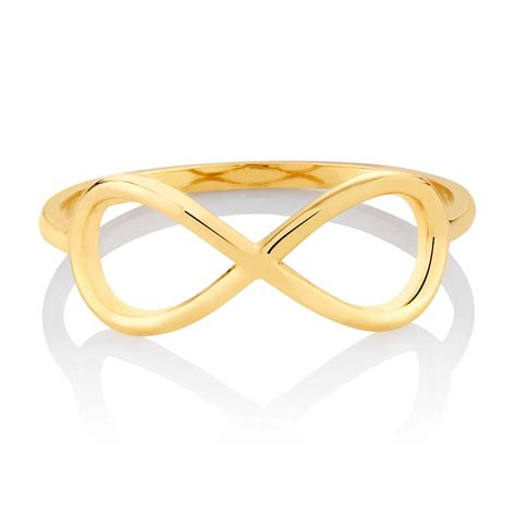 Infinity Ring in 10ct Yellow Gold