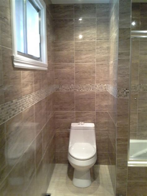 bathroom renovation brown tiles insertion mosaic la caroleuse traditional bathroom
