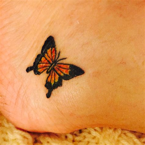 monarch tattoo small simple monarch butterfly on lower ankle