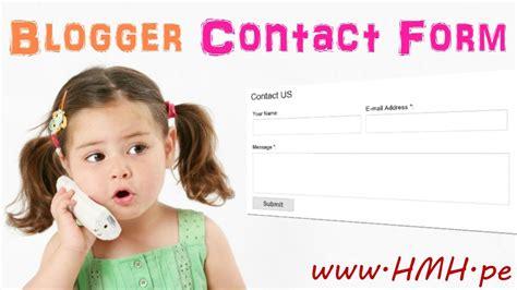 blogger tutorial full blogger contact form kaise add kare blog me full video