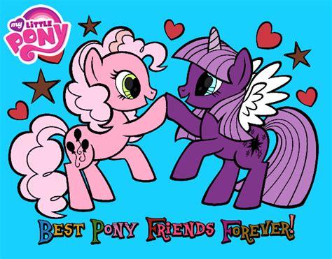 dibujo de amigas pintado por meyita en dibujos net el d 237 a dibujo de mejores pony amigas para siempre pintado por