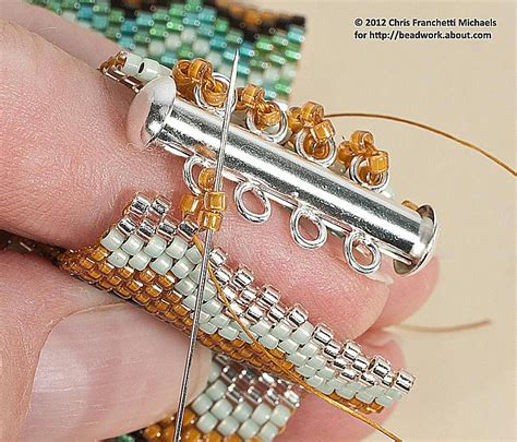 How To Attach A Tube Slide Clasp To A Beaded Bracelet