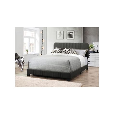 Grey Headboard And Footboard All In One Gray Bed With Channeled Headboard And Footboard Ds D121 290 500 The Home Depot