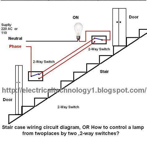 how to make a electric circuit with switch staircase wiring circuit diagram electrical technolgy