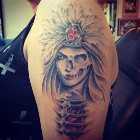 warrior princess tattoo designs 15 mind blowing aztec tattoos ideas sheideas