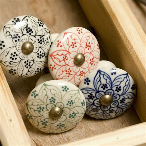 Kitchen Door Knobs Uk by Painted Ceramic Door Knob Knobs Drawer Pulls