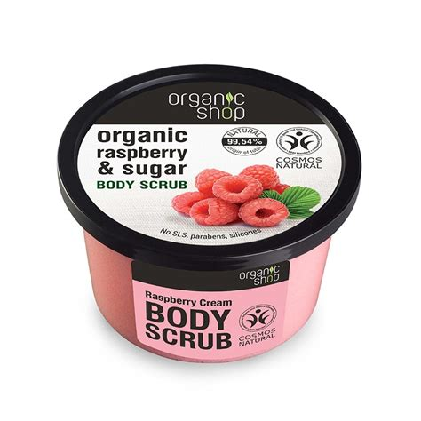 Raspberry Scrub 250ml organic shop organic raspberry sugar scrub