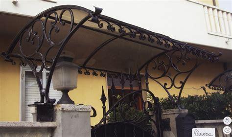 tettoia in ferro e policarbonato tettoie e pensiline in ferro battuto