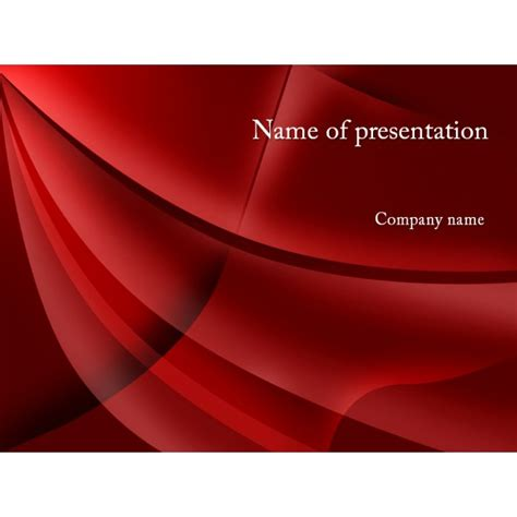 red style powerpoint template background for