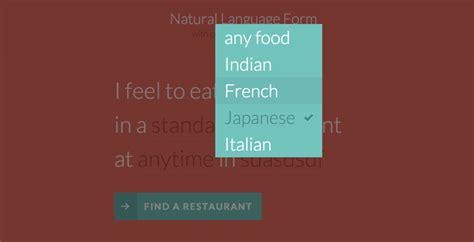 design form language natural language form with custom input elements
