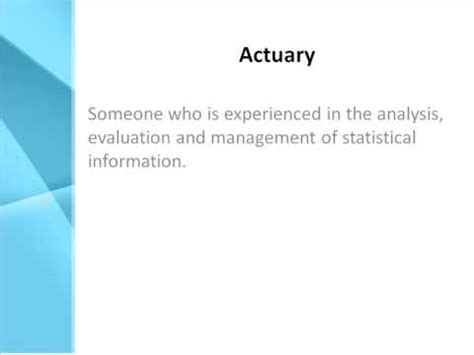 Description Of Actuary by Actuary Definition What Does Actuary