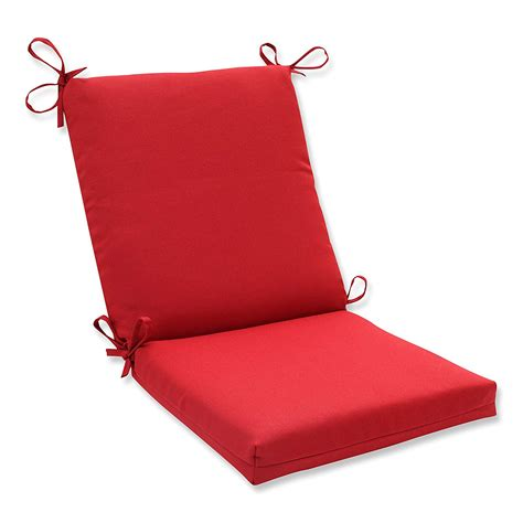 Pillow Perfect Indoor/Outdoor Red Solid Chair Cushion
