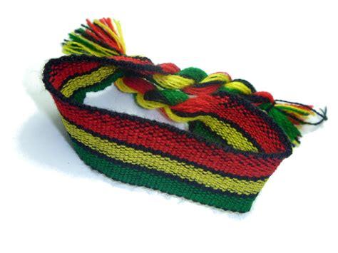 Inspirational Home Decor pulseiras de linha cores do reggae quotes