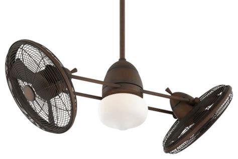 minka aire gyro dual ceiling fan minka aire gyro 1 light restoration bronze dual motor