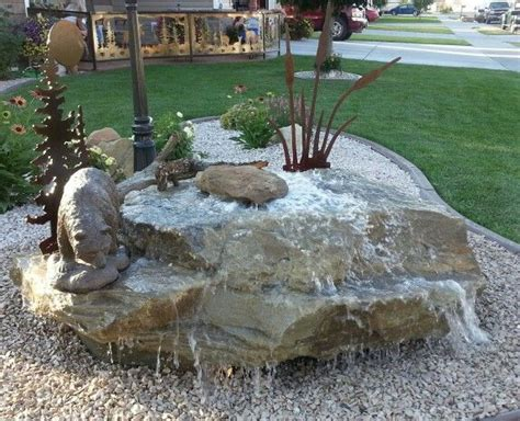 water feature in our front yard water feature ideas pinterest