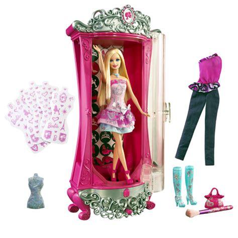 barbie armoire mattel barbie armoire paillettes magiques accessoire poup 233 e achat prix fnac
