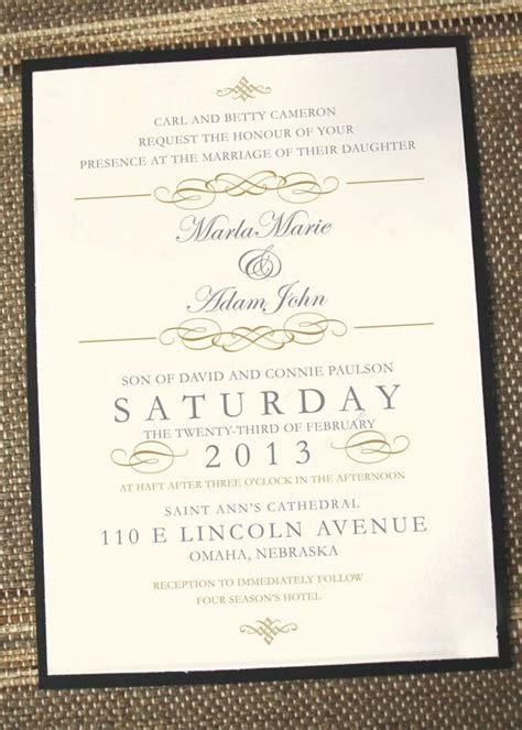 what does a wedding invitation look like vintage elegance wedding invitation by annamalie on etsy