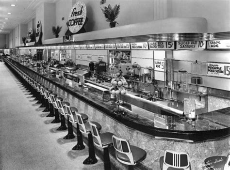 JJ Newberry lunch counter 1950's ..   the 50s diner   Pinterest   I love, Drug store and Bring