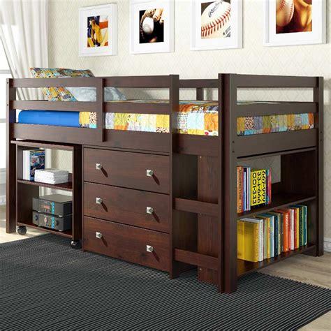 nicolai  twin size loft bed roll  desk chest