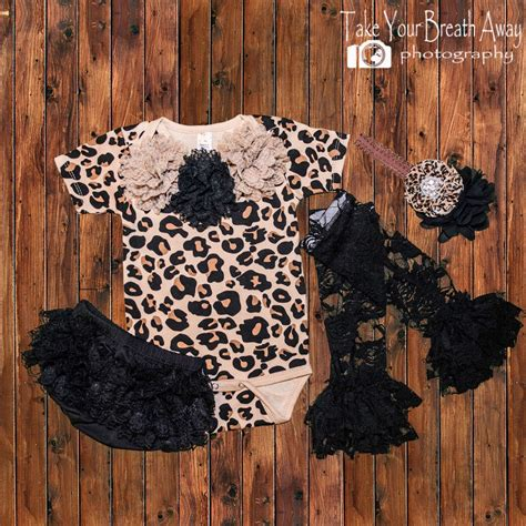 newborn girls leopard print outfit girl  home outfit