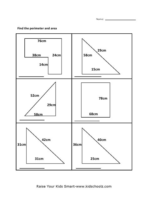 area worksheets for grade 4 math worksheets for 4th grade area and perimeter rcnschool