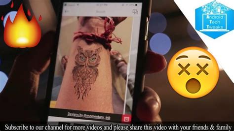 interactive tattoo app augmented reality tattoo app helps you think before you