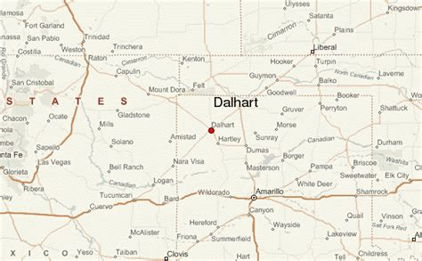 map of dalhart texas dalhart location guide
