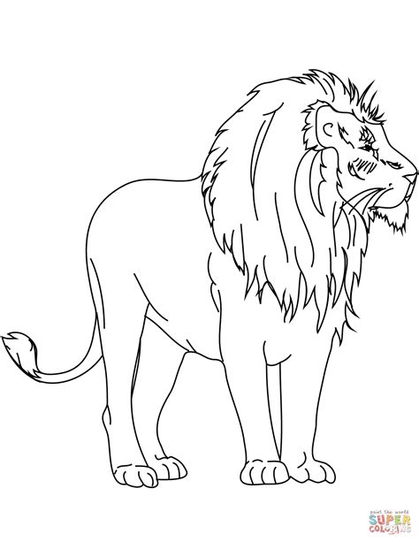 african lion coloring pages african lion coloring page free printable coloring pages