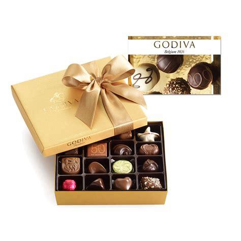 Godiva Gift Cards - 25 godiva gift card and19 pc gold ballotin classic godiva