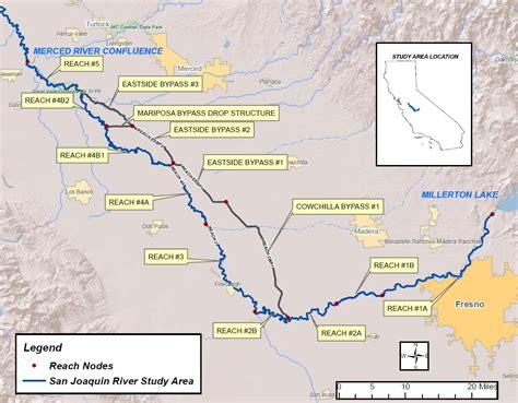 california map san joaquin river dams in the san joaquin river basin