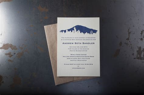Seattle Skyline Wedding Invitations ? Pike Street Press