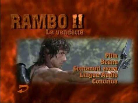 film in streaming gratis rambo ii la vendetta rambo 2 la vendetta menu dvd youtube