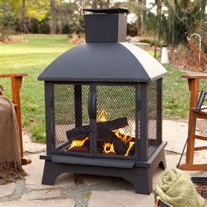 Chimney Firepit Outdoor Patio Fireplace Wood Burning Pit Chiminea Deck Backyard Heater New Pits