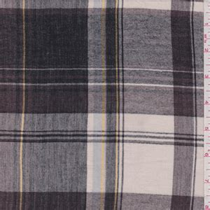 Bj 476 Plaid Brown Blouse black brown plaid gauze 30381 discount fabrics