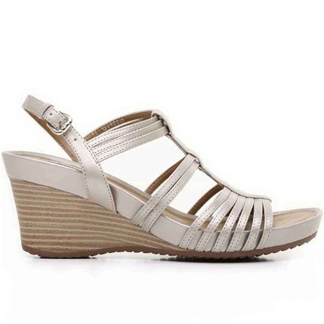 geox donna womens leather wedge sandals geox from