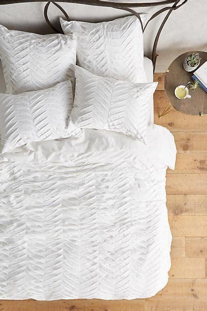 Pattern Texture Duvet | textured grey chevron duvet
