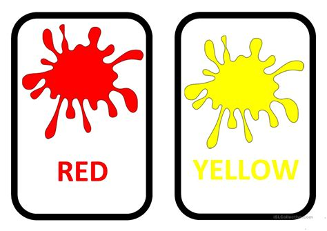 color flash colours flashcards worksheet free esl printable